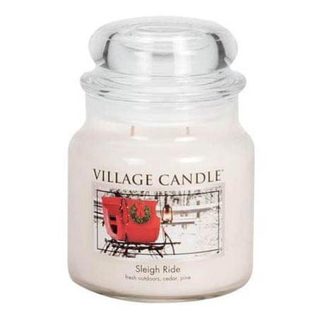 Village Candle Świeca w szklanym słoju Świeca wiejska, Zimowa jazda, 454 g