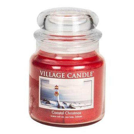 Village Candle Gyertya egy üvegedénybe falusi gyertya, Karácsony a kikötőben, 454 g