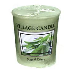Village Candle Falusi gyertya illatú gyertya, Friss zsálya, 57 g