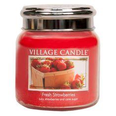 Village Candle Sviečka v sklenenej dóze Village Candle, Čerstvé jahody, 454 g