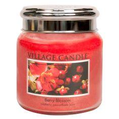 Village Candle Sviečka v sklenenej dóze , Červené kvety, 454 g