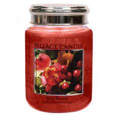 Village Candle Sviečka v sklenenej dóze Village Candle, Červené kvety, 737 g
