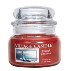 Village Candle Świeca w szklanym słoju Świeca wiejska, Boże Narodzenie w porcie, 312 g