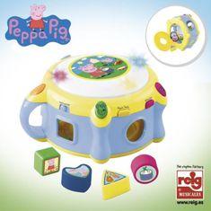 Reef Dětský třídič Prasátko Peppa s elektrickým bubínkem