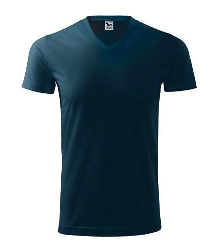 ADLER Czech Unisex tričko s V výstrihom Malfini Heavy V-Neck 111 tmavo modrá L