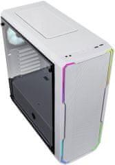 BitFenix Enso Mesh RGB, Tempered Glass, biela