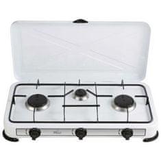 Melchioni Minerva 3 trojni plinski kuhalnik, bel
