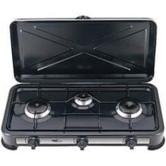 Melchioni Minerva 3 trojni plinski kuhalnik, črn