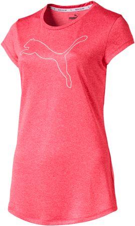 Puma ženska športna majica Active Heather Tee Calypso Coral, M, koralna