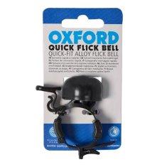 Oxford zvonec za kolo Quick Flick, črna