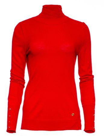 Trussardi Jeans ženski puli 56M00238-0F000414, S, rdeč