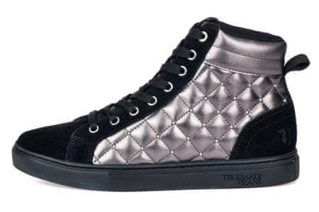 Trussardi Jeans dámske členkové tenisky 79A00452-9Y099999 36 čierna