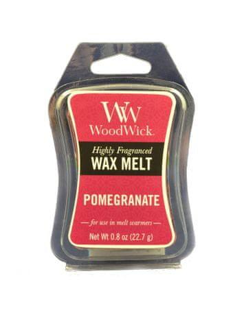Woodwick dišeč vosek Pomegranate 85,0 g, majhen