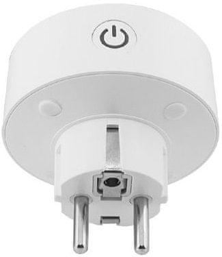 Inteligentne gniazdo Wi-Fi IQ-Tech SmartLife WS007, gniazdo Wi-Fi, 10 A, włączanie i wyłączanie na kontrolerze, timer, czasowy plan przełączania