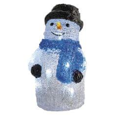 Emos LED vánoční sněhulák, 28cm, 3× AA, vnitřní, studená bílá, časovač