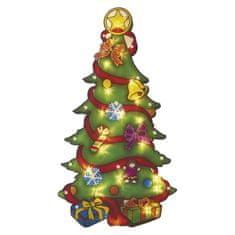 Emos LED božično drevo za okno, 43 cm, 3 × AAA, topla bela, časovnik