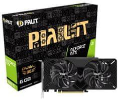 PALiT Dual OC GeForce GTX 1660 Ti, 6 GB GDDR6 grafična kartica
