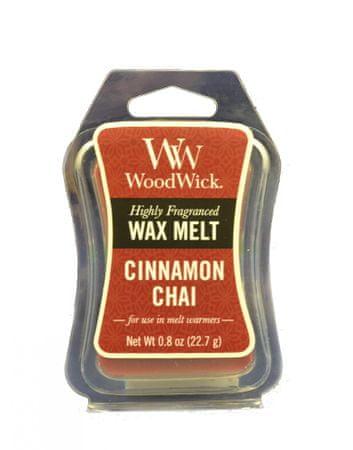 Woodwick dišeči vosek Cinnamon Chai, 22,7 g, 2 kosa
