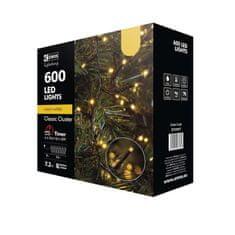 Emos LED božična veriga - jež, zunanja, 12 m, topla bela, časovnik