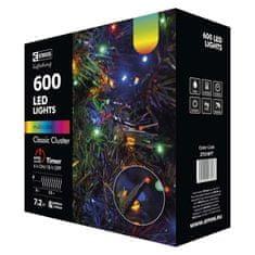 EMOS LED vianočná reťaz - ježko, vonkajší, 12m, multicolor, časovač