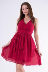 Stylomat Jednoduché společenské šaty bordó