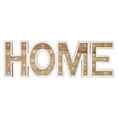 Emos LED nápis HOME dřevěný, 45cm, 2× AA, vnitřní, teplá bílá