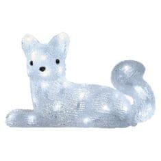 EMOS LED vianočná líška, 32cm, vonkajšie, studená biela, časovač