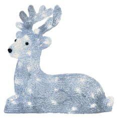 Emos LED vánoční sob, 31cm, venkovní, studená bílá, časovač