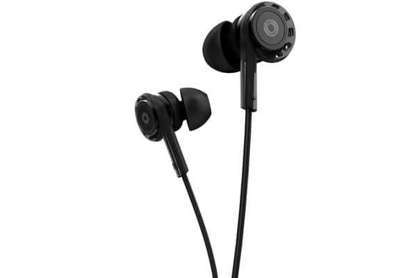 stylowe słuchawki przewodowe buxton rei-ms 200 balanced armature jasny dźwięk w niskich pasmach przetworniki dynamiczne kevlar sterowanie na przewodzie mikrofon do rozmów handsfree