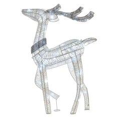 Emos LED severni jelen, 76 cm, notranji, hladno bela, časovnik