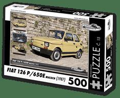 RETRO-AUTA© Puzzle č. 15 - FIAT 126 P/650E maluch (1987) 500 dílků
