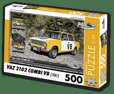 RETRO-AUTA© Puzzle č. 29 - VAZ 2102 COMBI VB (1981) 500 dílků