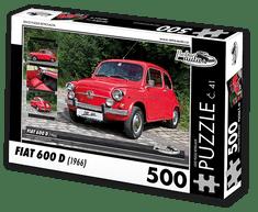 RETRO-AUTA© Puzzle č. 41 - FIAT 600 D (1966) 500 dílků