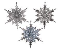 """Kaemingk Set 3 ks vianočných ozdôb """"Snehová vločka"""""""