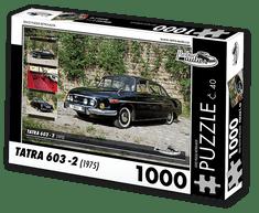 RETRO-AUTA© Puzzle č. 40 - TATRA 603 - 2 (1975) 1000 dílků