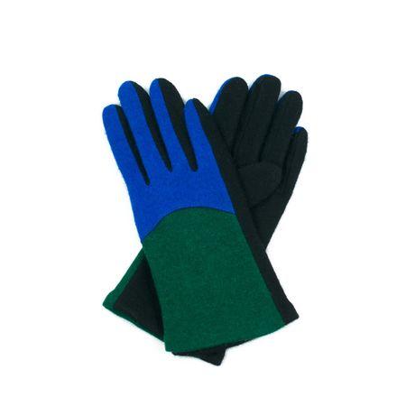 Art of Polo Dvoubarevné rukavičky z vařené vlny zelené.