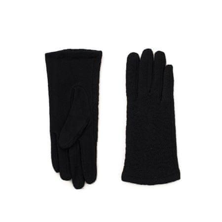 Art of Polo Elegantní rukavice s květy černá.