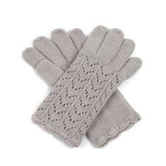 Art of Polo Dámské ažurové rukavice béžové.