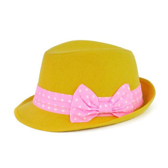 Art of Polo Žlutý klobouk s mašlí