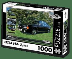 RETRO-AUTA© Puzzle č. 53 - TATRA 613 - 3 (1987) 1000 dílků