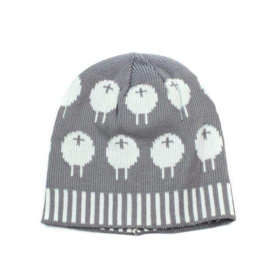 Art of Polo Čepice - ovečky na louce - šedá