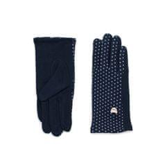 Art of Polo Hezké dámské rukavice modré.