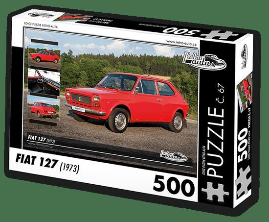 RETRO-AUTA© Puzzle č. 67 - FIAT 127 (1973) 500 dílků
