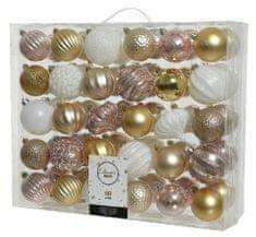 """Kaemingk 60 darabos karácsonyfadísz készlet """"CRYSTAL BALL"""", műanyag"""