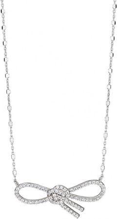 Morellato Srebrna ogrlica z bleščečim lokom 1930 SAHA03 srebro 925/1000