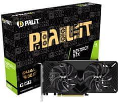 PALiT Dual OC GeForce GTX 1660, 6 GB GDDR5 grafična kartica