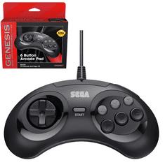 Sega Retro-Bit MD Mini 6-B USB igralni plošček, črn (Hardware)