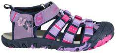 ALPINE PRO Dievčenské sandále Jim fialovo-ružové