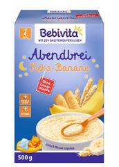 Bebivita Mléčná kaše na dobrou noc Keksy - Banány 2 x 250g