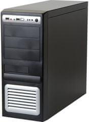 Eurocase ML 5435 čierno/strieborná - 400W